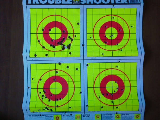 Top Left: 44 magnum Top Right: Glock 9mm Bottom Left and Right: 357 magnum