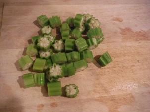 Cut up Okra