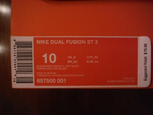 Shoe Information