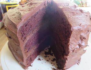 Triple Layer Chocolate Mocha Cake