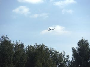 Very Low Flying Helicopter